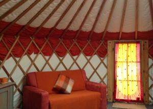 glamping yurt