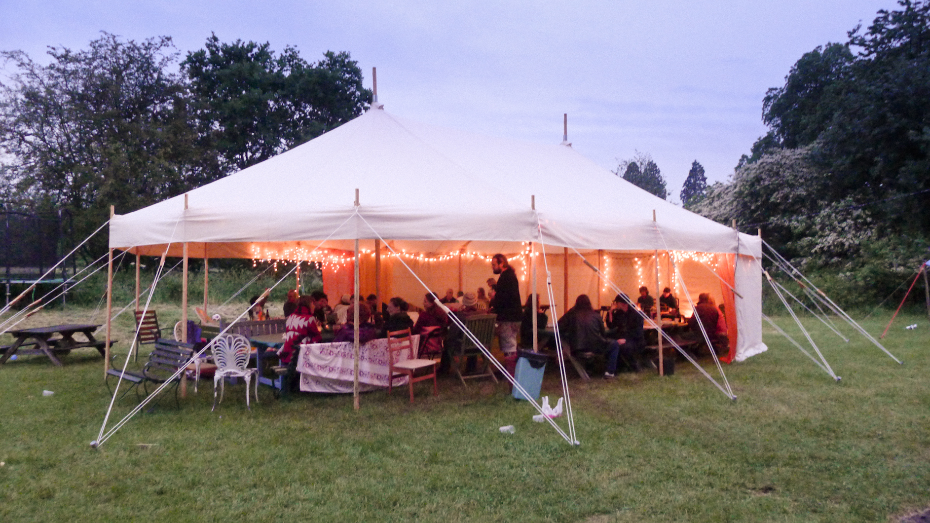 & Ambience in our traditional canvas marquee - World Tents