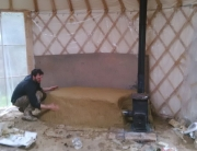Yurt Stove with Cob Thermal Mass - World Tents