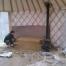 Yurt Stove with Cob Thermal Mass - World Tents