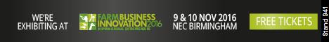 Exhibiting at Farm Business Innovation 2016, Nov 9th and 10th, NEC Birmingham